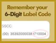 Remember to Bring your Label Code